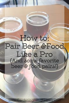 Get crafty with beer and food pairings! Pairing craft beer food is easier than I thought. Great beer recommendations, too!
