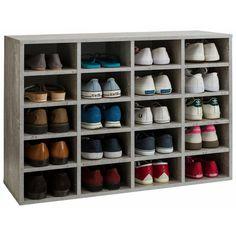 Meuble étagère range-chaussures 20 compartiments «Lady»