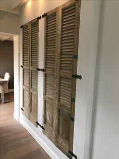 Wardrobe Closet, Wardrobe Doors, Built In Wardrobe, Armoire Entree, Spanish Bedroom, Interior Exterior, Interior Design, Cordwood Homes, Louvre Doors
