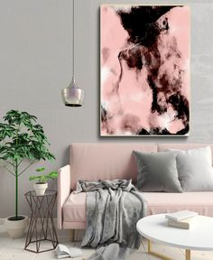 abstract art print, painting wall art, pink blush poster,  watercolor abstract print, digital artwork, modern minimalist, apartment decor by S4StarSbySiSSy on Etsy https://www.etsy.com/ca/listing/585213048/abstract-art-print-painting-wall-art
