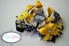 Bumble Bee Bow Newborn/Infant/Toddler/Adult by diamondprincessbows, $12.00