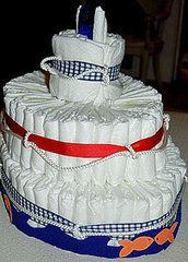 Diaper Cakes Suited For Sailors