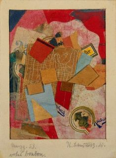 by Kurt Schwitters, Guggenheim Museum Size: cm Medium: Graphite, colored and printed paper, cardstock, and thread collage with cardstock border Solomon R. Kurt Schwitters, Robert Rauschenberg, Mixed Media Collage, Collage Art, Paper Collages, Collage Ideas, Museums In Nyc, Francis Picabia, Pop Art