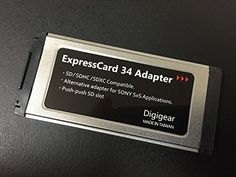 Introducing Digigear SDSDHCSDXC TO EXPRESSCARD ADAPTERREADER FOR SONY SXS PRO CARD APPLICATIONREPLACEMENT UPTO 2TB support from 8MB to 32  64 GB. Great Product and follow us to get more updates!