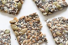 Rather than using both chia and flax seeds you could use just half a cup of one. It is important to include one or the other because they are what break down and bind everything together.