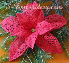 Poinsettia Free Standing Lace