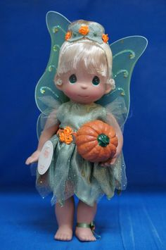 Tinker Bell Boo Fall 2014 Doll Precious Moment Disney Fairy Signed 4870 #PreciousMoments #VinylDolls