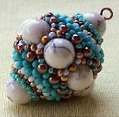 DIY - Beaded Bead. I really really really, I mean really have to try this~!~