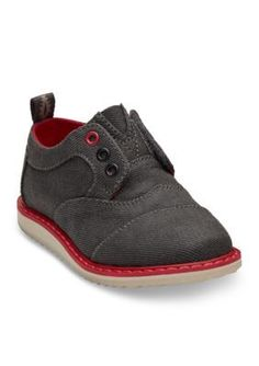 TOMS Gray Brogue Shoe - Boys InfantToddler Sizes
