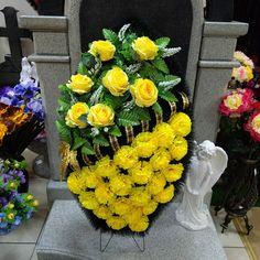 Funeral Flowers, Silk Flowers, Flower Arrangements, Daisy, Floral Wreath, Wreaths, Garden, Plants, Decor