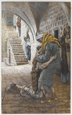 Prodigal son - James Tissot.  This used to be one of my most fav stories when I was little.