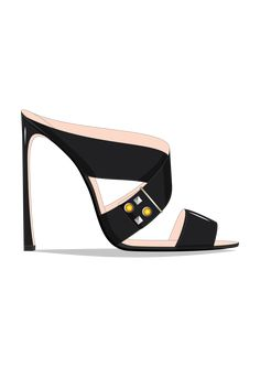 ● Guillaume Bergen Spring /Summer '17 #Sketch Mules Shoes, Shoes Heels, Women's Sandals, Shoe Sketches, Jeweled Shoes, Vegan Shoes, Designer Heels, Pretty Shoes, Summer Shoes
