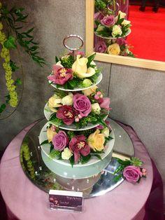 A three-tier cake stand design