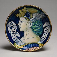 ca. 1520–25 Italy; Urbino or Castel Durante Tin-glazed earthenware (maiolica).