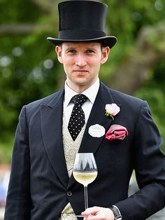 Fred Scarlett, Olympic medalist in rowing, wears a top hat and tails at Royal Ascot 2015 Macy Gray, Grey Artist, Royal Ascot, Top Hats, Look At Me, Rowing, Olympics, Atlanta, Singer