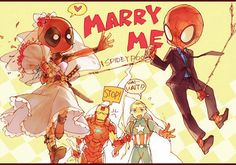 Spideypool? whats with all the yaui? srsly, girls, srsly