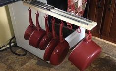 under the counter pull out pots and pans rack, countertops, diy, how to, kitchen design, organizing, storage ideas