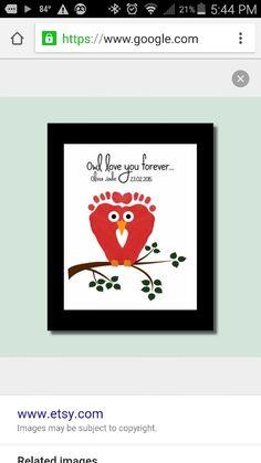 Owl footprint craft