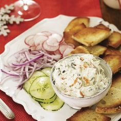 Smoked Salmon Spread and Bagels #appetizers