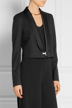 Lanvin | Cropped embellished wool-twill blazer | NET-A-PORTER.COM