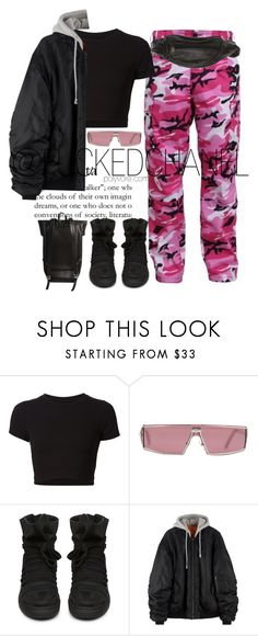 """""""Pink emoji: 💕👄🌸🎀"""" by fuckedchanel ❤ liked on Polyvore featuring Getting Back To Square One, Christian Dior, KRISVANASSCHE and Rick Owens"""
