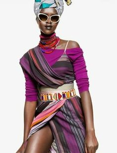 Ethnic Fusion --- Mary Maguet shot by Giulio Rustichelli for Flair Magazine March 2014 fashion editorial African Inspired Fashion, African Print Fashion, Fashion Prints, Fashion Design, Afro, African Design, African Style, Estilo Fashion, African Women