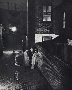 """""""Alley off East India Dock Road"""" by Bill Brandt from his book """"A Night in London"""" (1938)"""