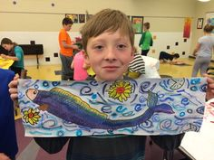 4th grade artists are learning about the art and lives of people in Asia, particularly Japan with this project. Through our slide show, ...