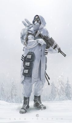 Snow Trooper, Simon Fetscher on ArtStation at http://www.artstation.com/artwork/snow-trooper