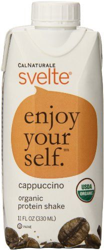 CalNaturale Svelte Organic Protein Shake, Cappuccino, 11 Ounce (Pack of 8) >>> Click image for more details.  This link participates in Amazon Service LLC Associates Program, a program designed to let participant earn advertising fees by advertising and linking to Amazon.com.