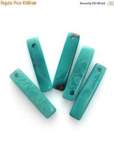 Tagua Rechtecke flieder 19-28mm 5 Stück dünn Taguaperlen lang flach Naturschmuck