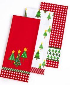 Martha Stewart Holiday Kitchen towels