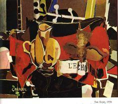 1954 The Echo - Georges Braque. Titulo original: L'Echo