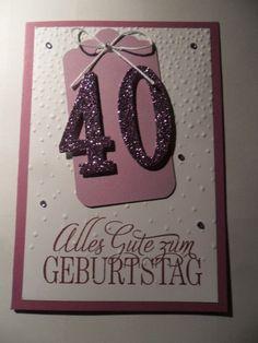 Glückwunschkarten - Glückwunschkarte zum runden Geburtstag - ein Designerstück von kreatives-allerlei bei DaWanda