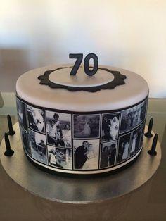 30th Birthday Cakes For Men, 70th Birthday Decorations, 50th Birthday Cake Toppers, 40th Cake, Dad Cake, 70th Birthday Parties, Birthday Logo, Family Cake, Bolo Cake