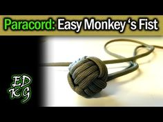 Simple Paracord: Monkey's Fist (EASY 4 pass version) - YouTube