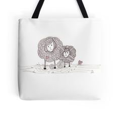 Tangled Ewe and Me by Chris Gerstner.  Tangled Ewe with her little one, available in kids clothes, too!