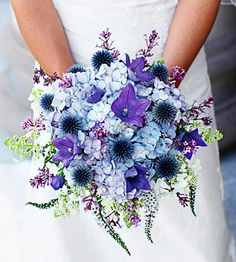 Bridal Bouquet-  going green using locally grown flowers