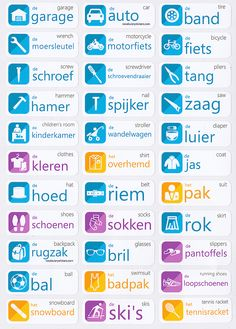 Dutch vocabulary sticker : garage