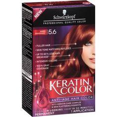 Schwarzkopf Keratin Color Anti-Age Hair Color Kit, 5.6 Warm Mahogany
