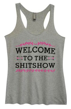 Womens Tri-Blend Tank Top - Welcome To The Shitshow