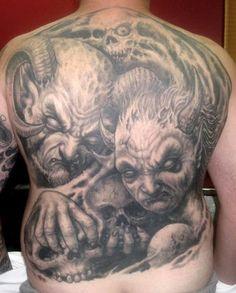 Skull Back Tattoo Designs | Paradise Tattoo Gathering : Tattoos : Liorcifer :