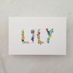 LILY // bloemen //flowers // meisje // kleurrijk // geboortekaartje // lief // speels // mosstudio