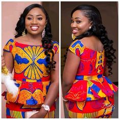 2019 Print Designs: 60 Modern And Trendy Dresses And Styles For The Women - video African Print Fashion, African Fashion Dresses, African Dress, African Prints, Trendy Ankara Styles, Kente Styles, Kente Dress, Lace Gown Styles, African Wedding Attire