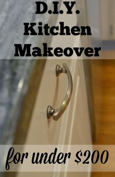 Does your kitchen need an update, but a full remodel isn't in the budget? Here's how we complete a full kitchen makeover with less than $200!