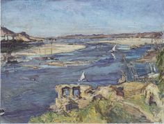 The Nile at Aswan, 1914 by Max Slevogt. Impressionism. landscape. Galerie Neue Meister, Dresden, Germany