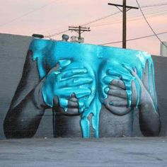 Street art/Graffiti inspiration, via From up North 3d Street Art, Amazing Street Art, Street Art Graffiti, Amazing Art, Banksy, Art Du Monde, Francis Picabia, Urbane Kunst, Graffiti Artwork