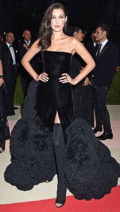 Met Gala 2016 BELLA HADID. What a fun & classy dress perfect for the Met Gala