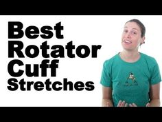 Rotator cuff stretches are great for the rotator cuff muscles (supraspinatus, infraspinatus, teres minor, and subscapularis), as well as the muscles around t. Shoulder Rehab, Sore Shoulder, Shoulder Pain Relief, Shoulder Surgery, Shoulder Muscles, Frozen Shoulder Exercises, Shoulder Pain Exercises, Shoulder Injuries, Shoulder Workout