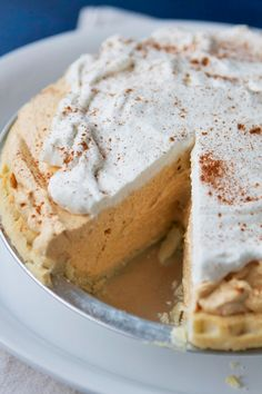 These easy, homemade pumpkin pie recipes are perfect for your Thanksgiving dinner. Here, you'll find the best pumpkin pie ideas featuring classic ingredients and fun additions like chocolate, pecans and more. Cronut, Tart Recipes, Dessert Recipes, Cream Pie Recipes, Pumpkin Cream Pie, Pumpkin Pumpkin, Pumpkin Chiffon Pie, Pumpkin Bread, Pumpkin Spice